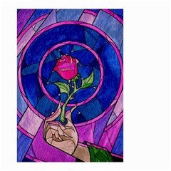 Enchanted Rose Stained Glass Small Garden Flag (two Sides) by Samandel