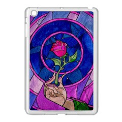 Enchanted Rose Stained Glass Apple Ipad Mini Case (white) by Samandel