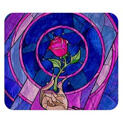 Enchanted Rose Stained Glass Double Sided Flano Blanket (small)  by Samandel