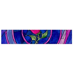 Enchanted Rose Stained Glass Small Flano Scarf by Samandel