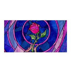 Enchanted Rose Stained Glass Satin Wrap by Samandel