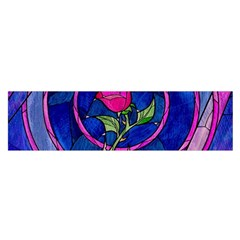 Enchanted Rose Stained Glass Satin Scarf (oblong) by Samandel