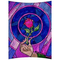 Enchanted Rose Stained Glass Back Support Cushion by Samandel