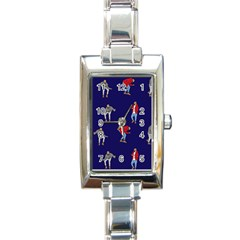 Drake Ugly Holiday Christmas Rectangle Italian Charm Watch