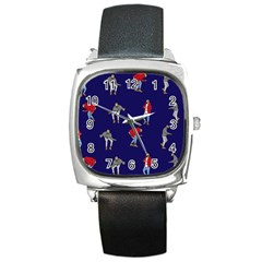 Drake Ugly Holiday Christmas Square Metal Watch