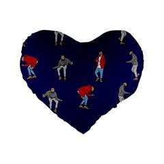 Drake Ugly Holiday Christmas Standard 16  Premium Heart Shape Cushions by Samandel