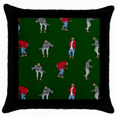 Drake Ugly Holiday Christmas Throw Pillow Case (black) by Samandel