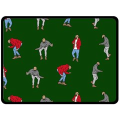 Drake Ugly Holiday Christmas Double Sided Fleece Blanket (large)