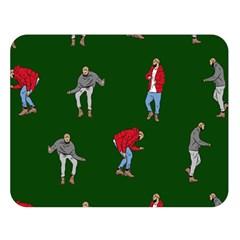 Drake Ugly Holiday Christmas Double Sided Flano Blanket (large)  by Samandel