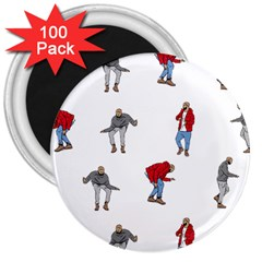 Drake Ugly Holiday Christmas 3  Magnets (100 Pack)