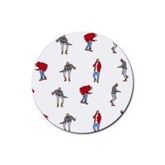 Drake Ugly Holiday Christmas Rubber Round Coaster (4 Pack)