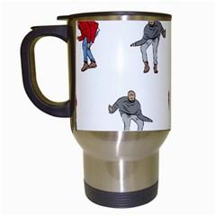 Drake Ugly Holiday Christmas Travel Mugs (white) by Samandel