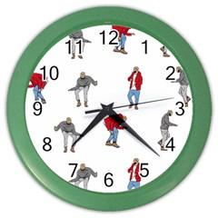 Drake Ugly Holiday Christmas Color Wall Clocks by Samandel