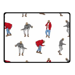 Drake Ugly Holiday Christmas Fleece Blanket (small)