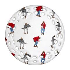 Drake Ugly Holiday Christmas Ornament (round Filigree)