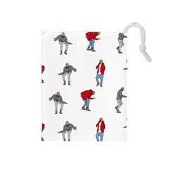 Drake Ugly Holiday Christmas Drawstring Pouches (medium)