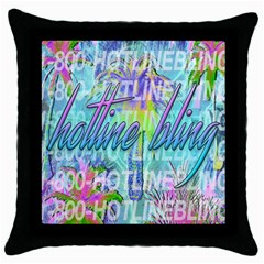 Drake 1 800 Hotline Bling Throw Pillow Case (black) by Samandel