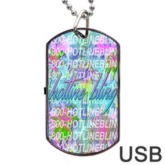 Drake 1 800 Hotline Bling Dog Tag Usb Flash (one Side) by Samandel
