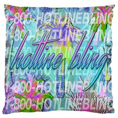 Drake 1 800 Hotline Bling Large Cushion Case (one Side) by Samandel