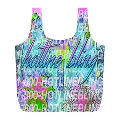 Drake 1 800 Hotline Bling Full Print Recycle Bags (l)  by Samandel