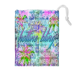 Drake 1 800 Hotline Bling Drawstring Pouches (extra Large) by Samandel
