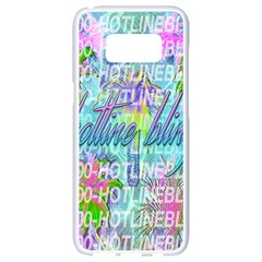 Drake 1 800 Hotline Bling Samsung Galaxy S8 White Seamless Case by Samandel