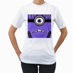 Evil Purple Women s T Shirt (white) (two Sided)