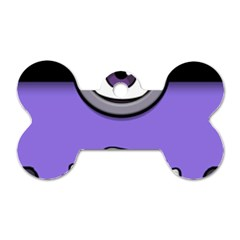 Evil Purple Dog Tag Bone (two Sides)