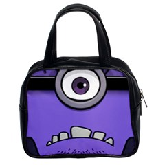 Evil Purple Classic Handbags (2 Sides)
