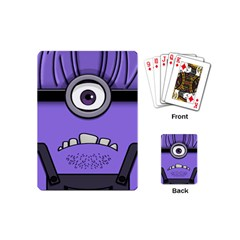 Evil Purple Playing Cards (mini)  by Samandel