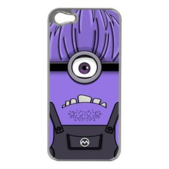 Evil Purple Apple Iphone 5 Case (silver)