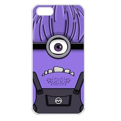 Evil Purple Apple Iphone 5 Seamless Case (white)