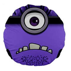 Evil Purple Large 18  Premium Flano Round Cushions