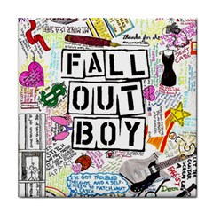 Fall Out Boy Lyric Art Tile Coasters