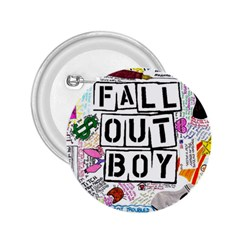 Fall Out Boy Lyric Art 2 25  Buttons by Samandel