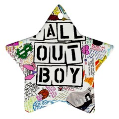 Fall Out Boy Lyric Art Ornament (star) by Samandel
