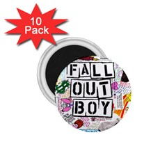 Fall Out Boy Lyric Art 1 75  Magnets (10 Pack)