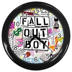 Fall Out Boy Lyric Art Wall Clocks (black) by Samandel