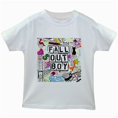 Fall Out Boy Lyric Art Kids White T Shirts