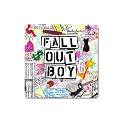 Fall Out Boy Lyric Art Square Magnet by Samandel