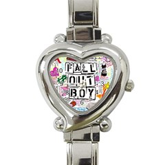 Fall Out Boy Lyric Art Heart Italian Charm Watch by Samandel