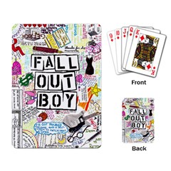 Fall Out Boy Lyric Art Playing Card by Samandel