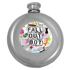 Fall Out Boy Lyric Art Round Hip Flask (5 Oz)