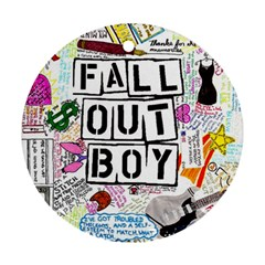 Fall Out Boy Lyric Art Round Ornament (two Sides)