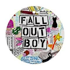 Fall Out Boy Lyric Art Round Ornament (two Sides) by Samandel