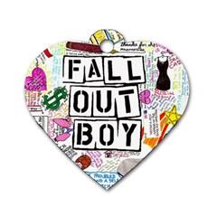 Fall Out Boy Lyric Art Dog Tag Heart (two Sides)