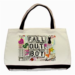 Fall Out Boy Lyric Art Basic Tote Bag (two Sides) by Samandel