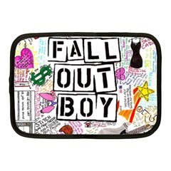 Fall Out Boy Lyric Art Netbook Case (medium)  by Samandel