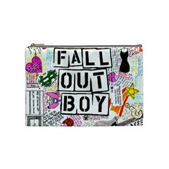 Fall Out Boy Lyric Art Cosmetic Bag (medium)  by Samandel