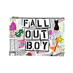 Fall Out Boy Lyric Art Cosmetic Bag (large)  by Samandel